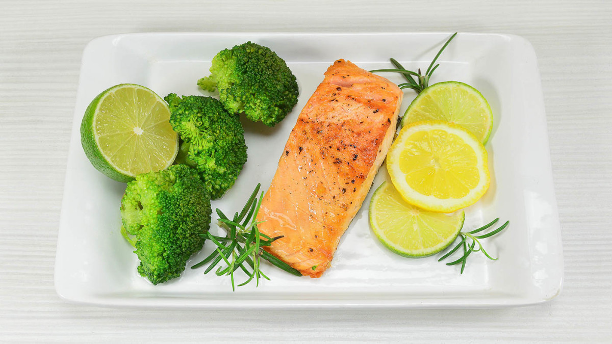 Perfectly moist oven-baked salmon with lemon herb butter