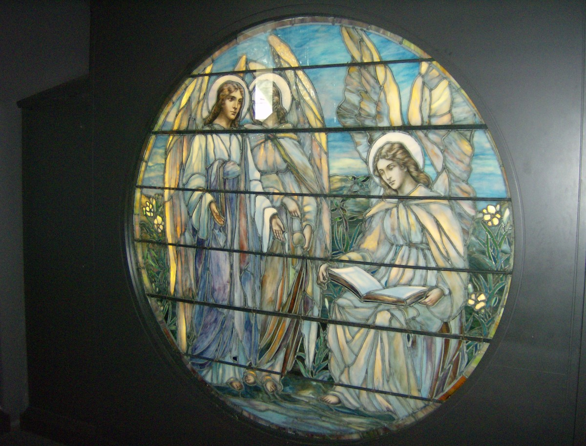 Stained Glass on display at the Navy Pier in Chicago, Ill.