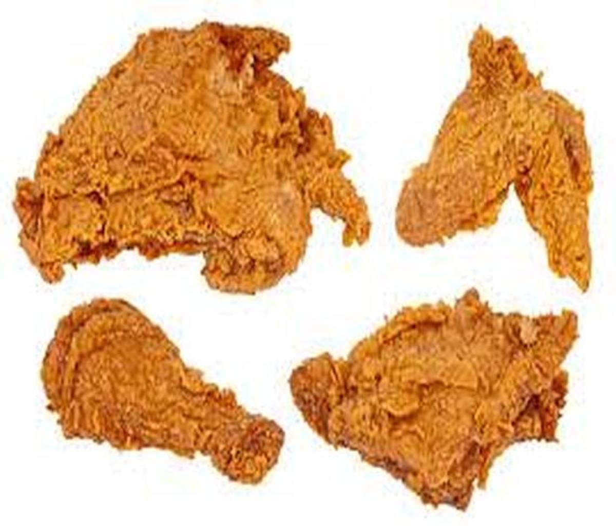Use cornstarch for extra crispy fried chicken
