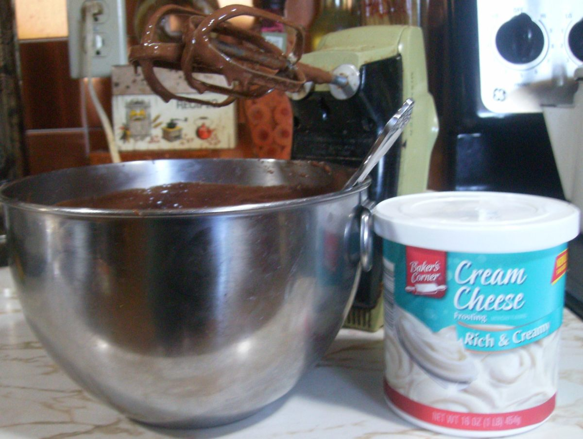 Don't forget the cream cheese frosting!
