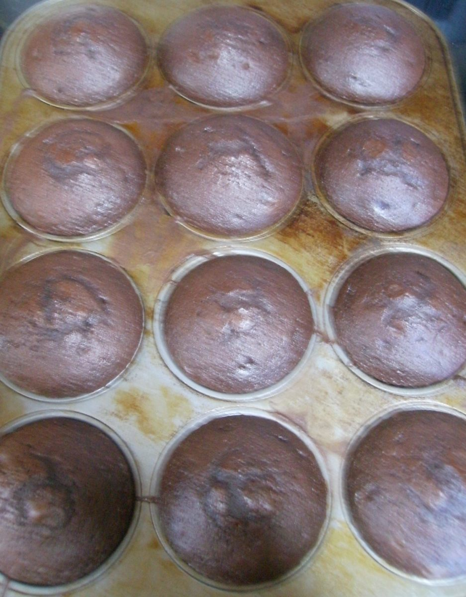 Cupcakes fresh out of the oven!