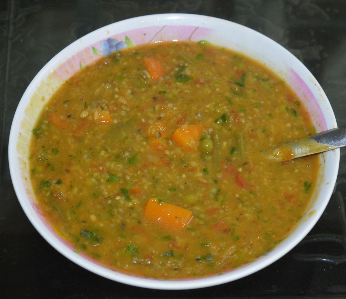 Bajra Khichdi (Pearl Millet Porridge)