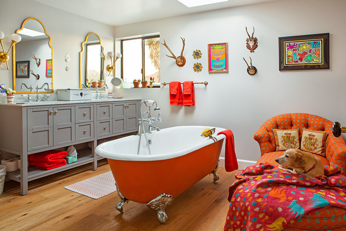 Who wants a tired white bathtub? Not the Chinese Zodiac Dog! Install a red one. Have enough space in the bathroom for a literal dog. Add whimsical features, explore different elements, and embrace beauty.