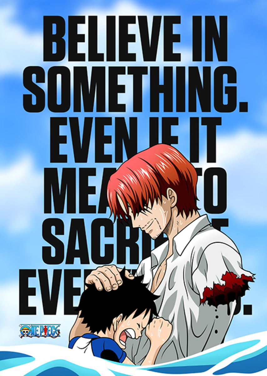 Get this awesome anime quote in a metal poster here: