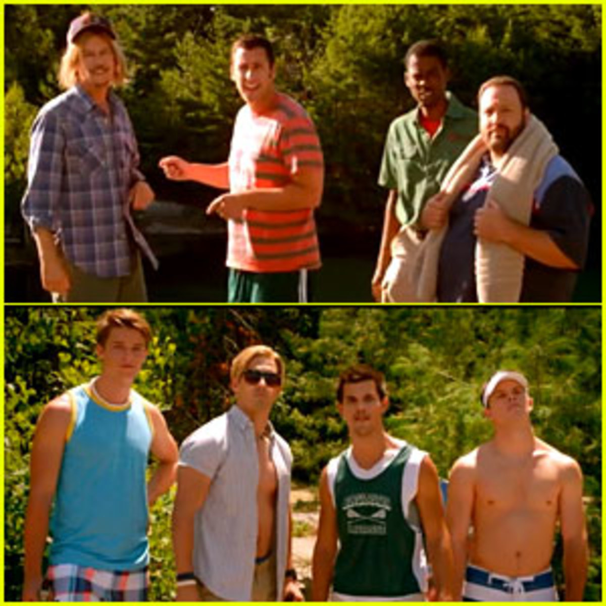 Taylor Lautner stars in the new Grown Ups 2.  Out in Theaters July 2013.