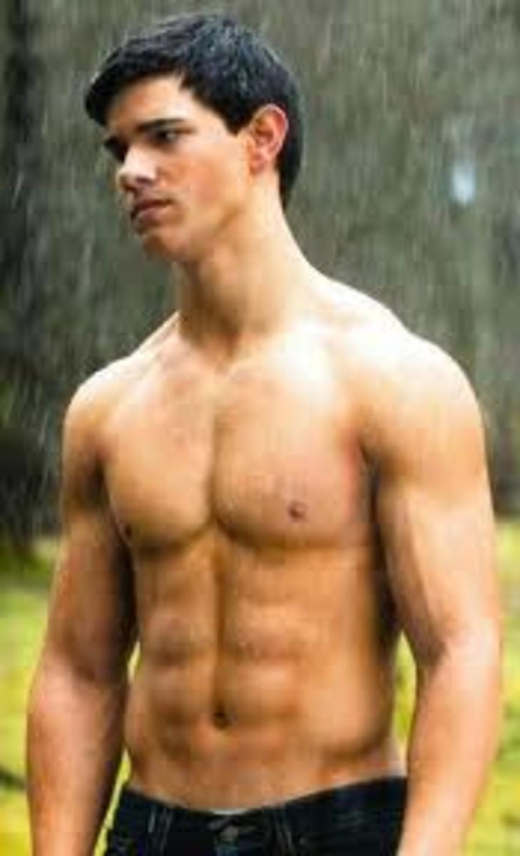 Taylor Lautner and his amazing abs.