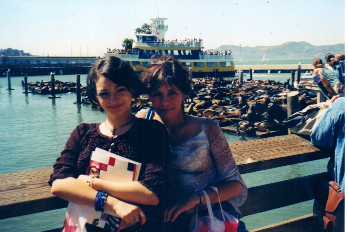My daughter and myself shortly after arriving in San Francisco in 2003.