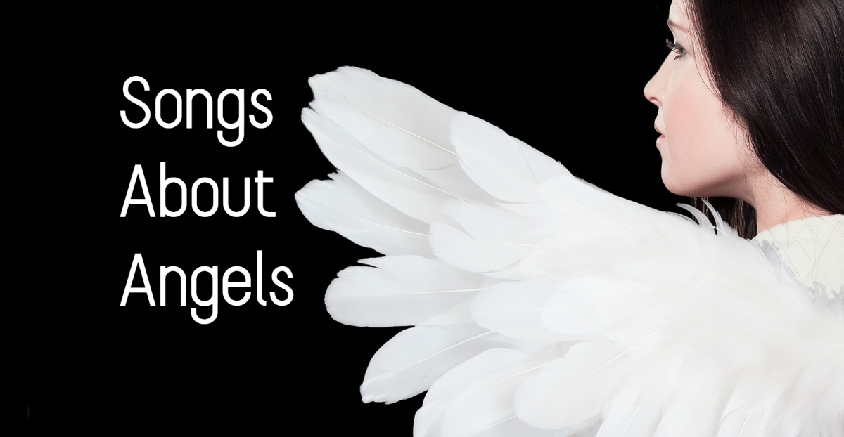 Women are often compared to angels in music and literature.  As symbols, angels can showcase purity of heart and protectiveness.  Alternatively, they can also be used to highlight personal failure and sinfulness.