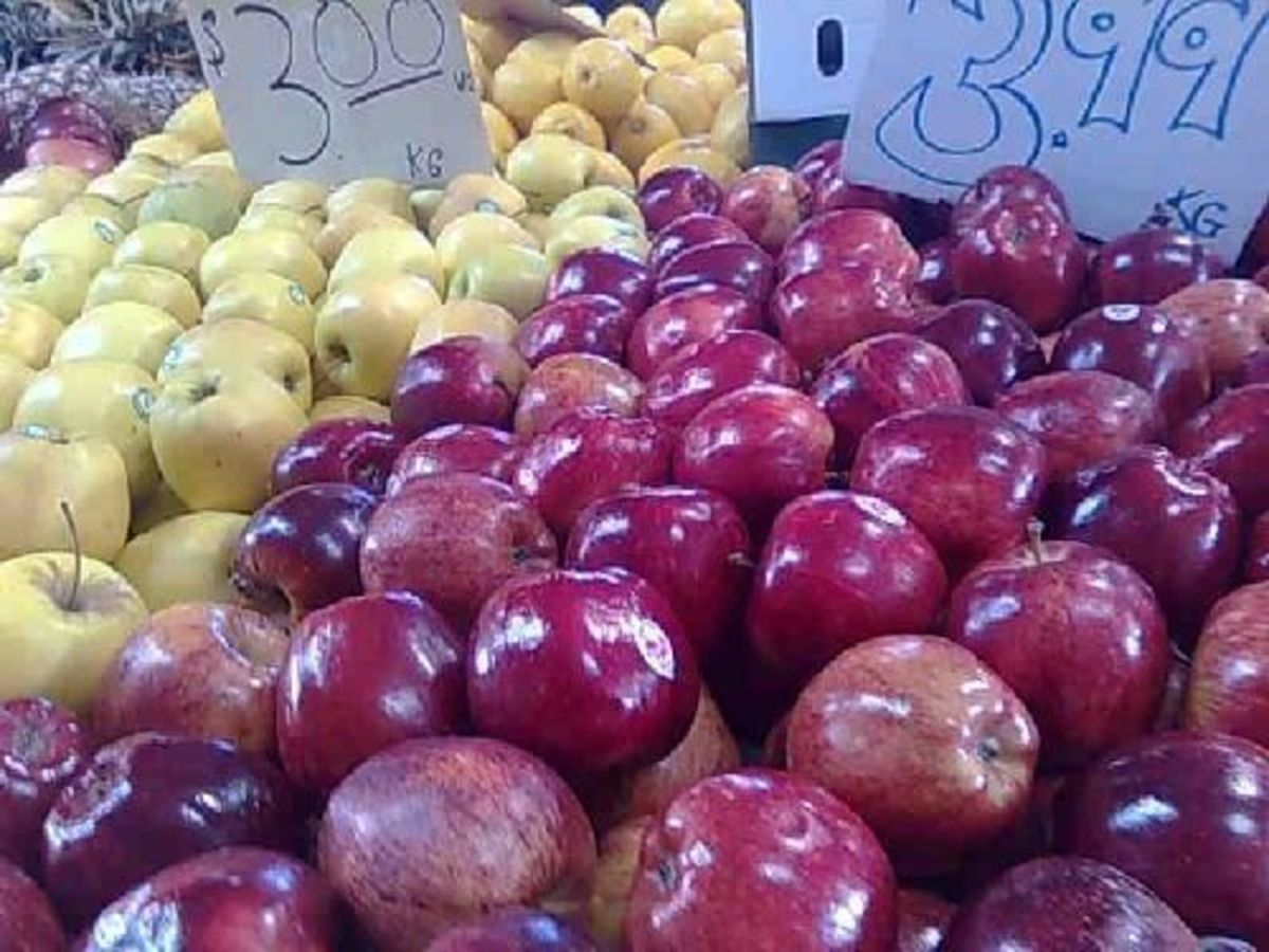 Apples from Tasmania at the Queen Vic