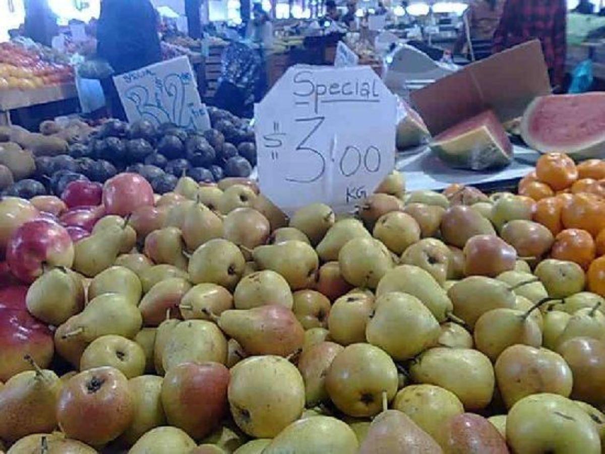 Fresh pears from outside Pakenham