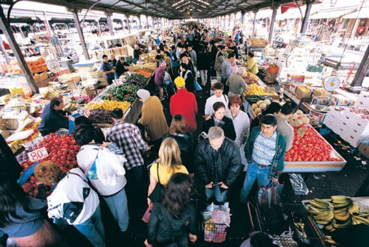 Morning Shopping in the Market