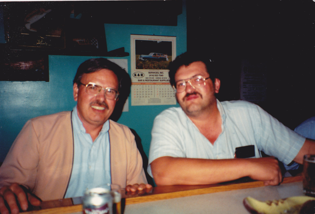 The author on left with brother Philip.  Picture taken in 1992.