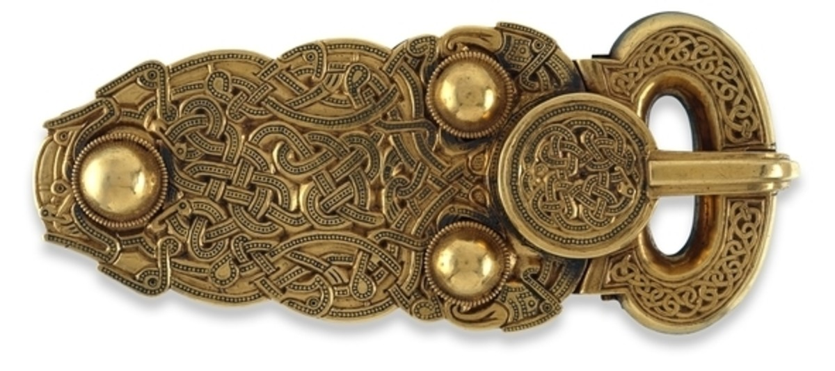 Some of the treasure restored after being discovered at Sutton Hoo. The level of preservation is astonishing.