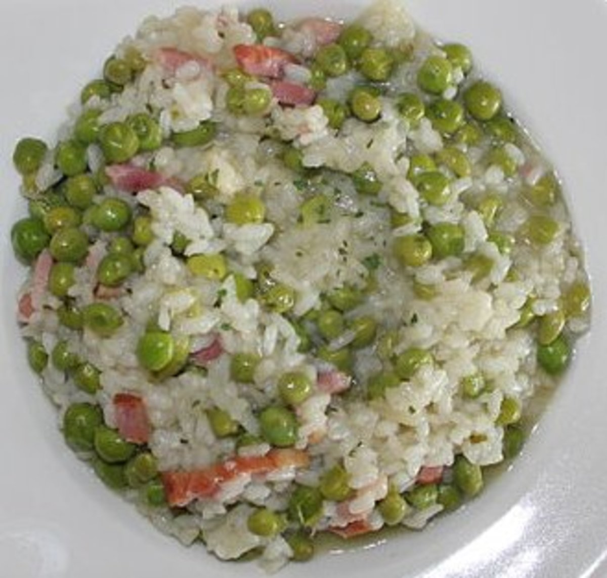 Risi e Bisi (Veneto), risotto with fresh peas.