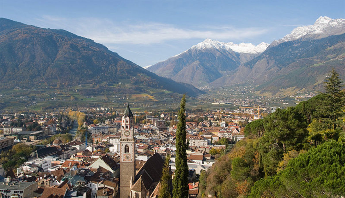 View of City Of Meran in Alto Adige, Italy