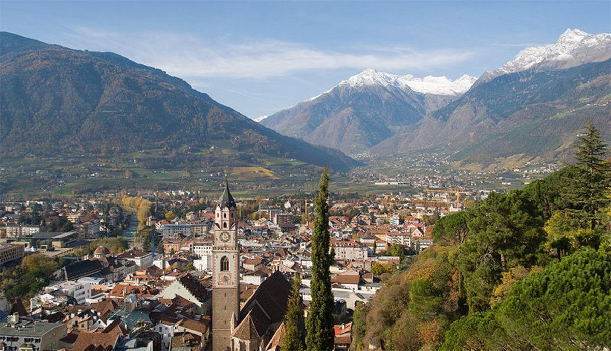 View of City Of Meran in Alto Adige, Italy