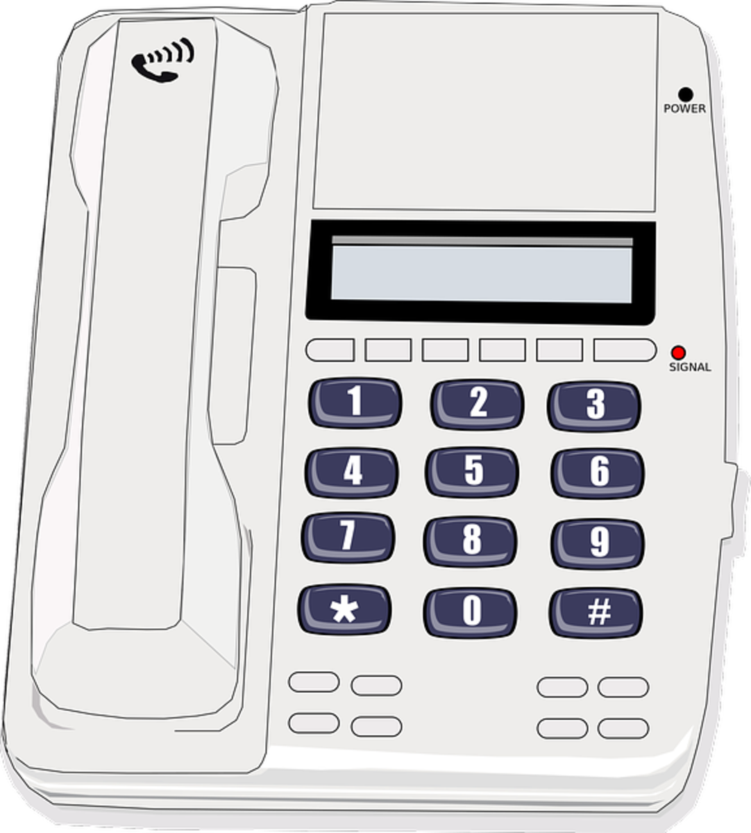 A land-line phone is best when making or receiving job related phone calls.  Try to avoid using a cell phone, if possible.