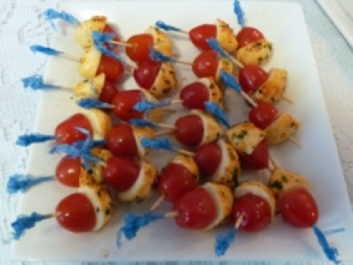 Tomato and Bocconcini skewers