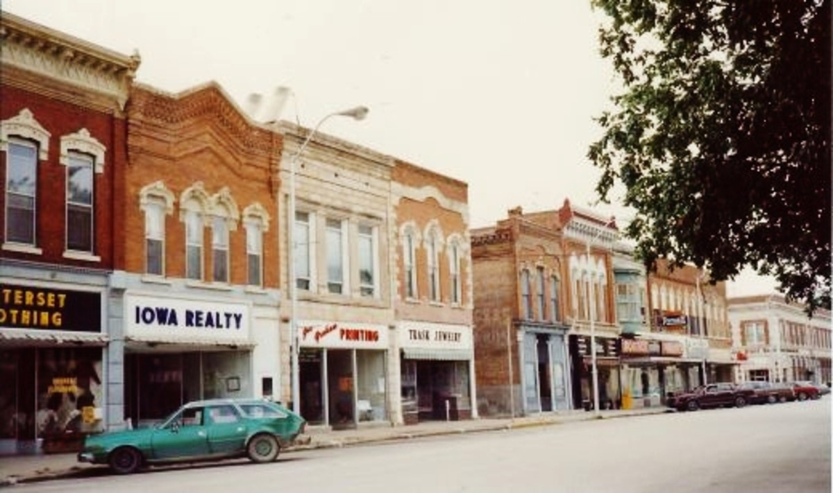 Town Views of Winterset, Iowa