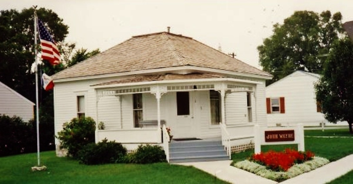 Modest birthplace of John Wayne in Winterset, Iowa