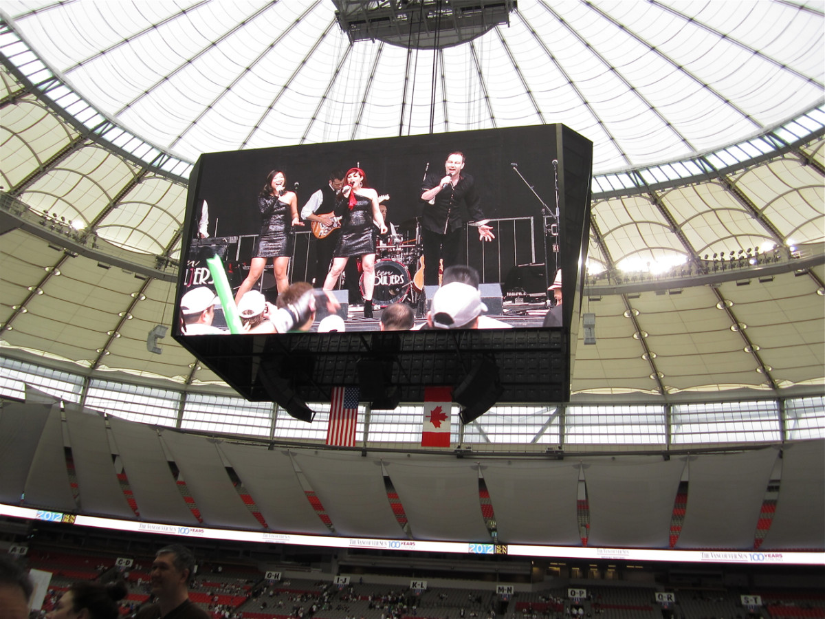 A view of the live entertainment in the stadium