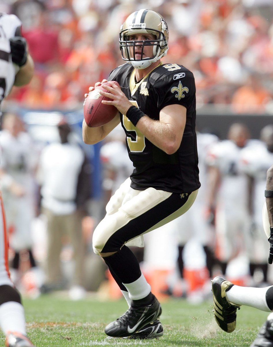 Brees in his initial 2006 season with the New Orleans Saints