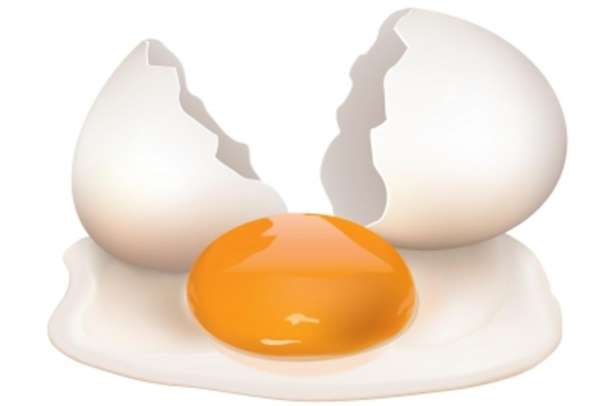 Egg yolk for dry skin issues