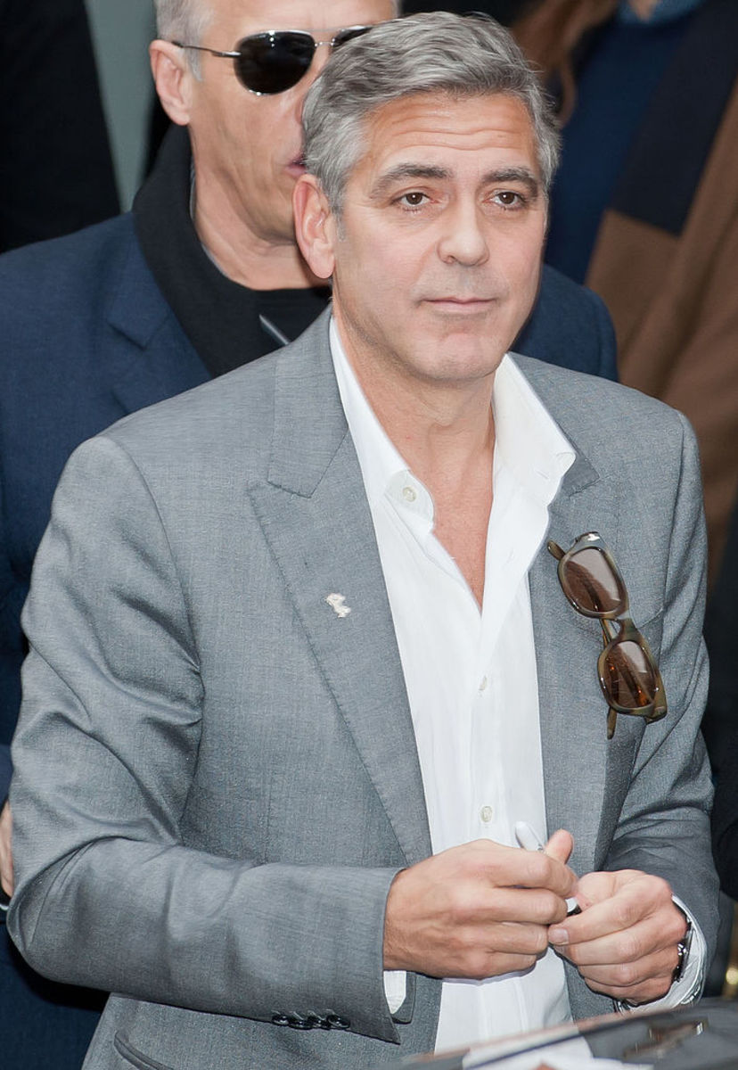 George Clooney went grey before his 40's birthday.