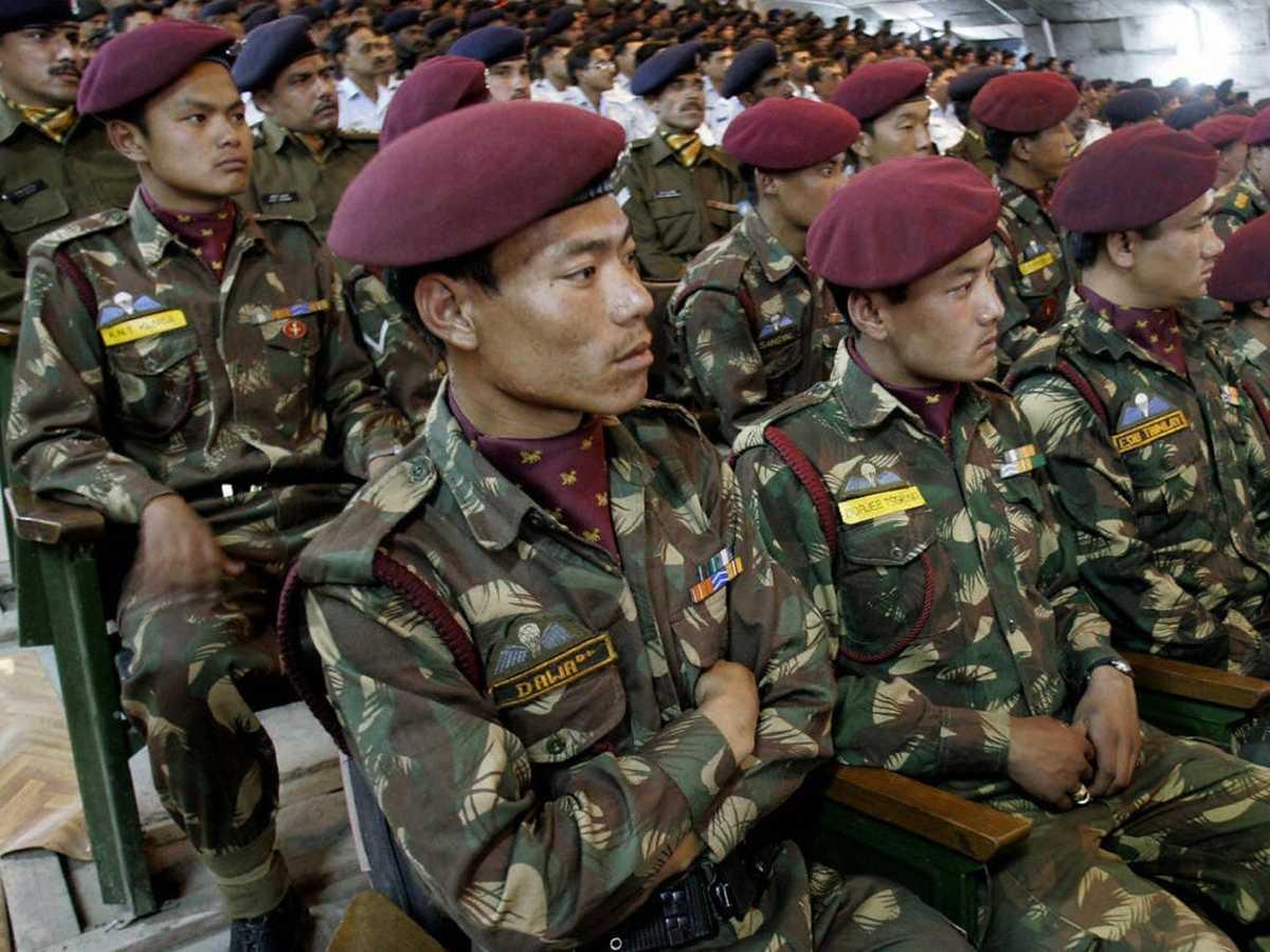 Indo- Tibetan force soldiers