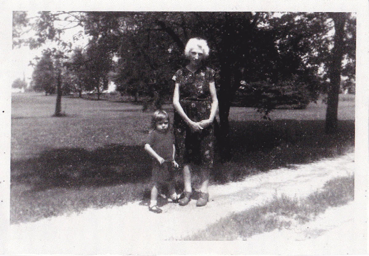 Grandma with a granddaughter from aunt Mary.  Picture taken about 1970