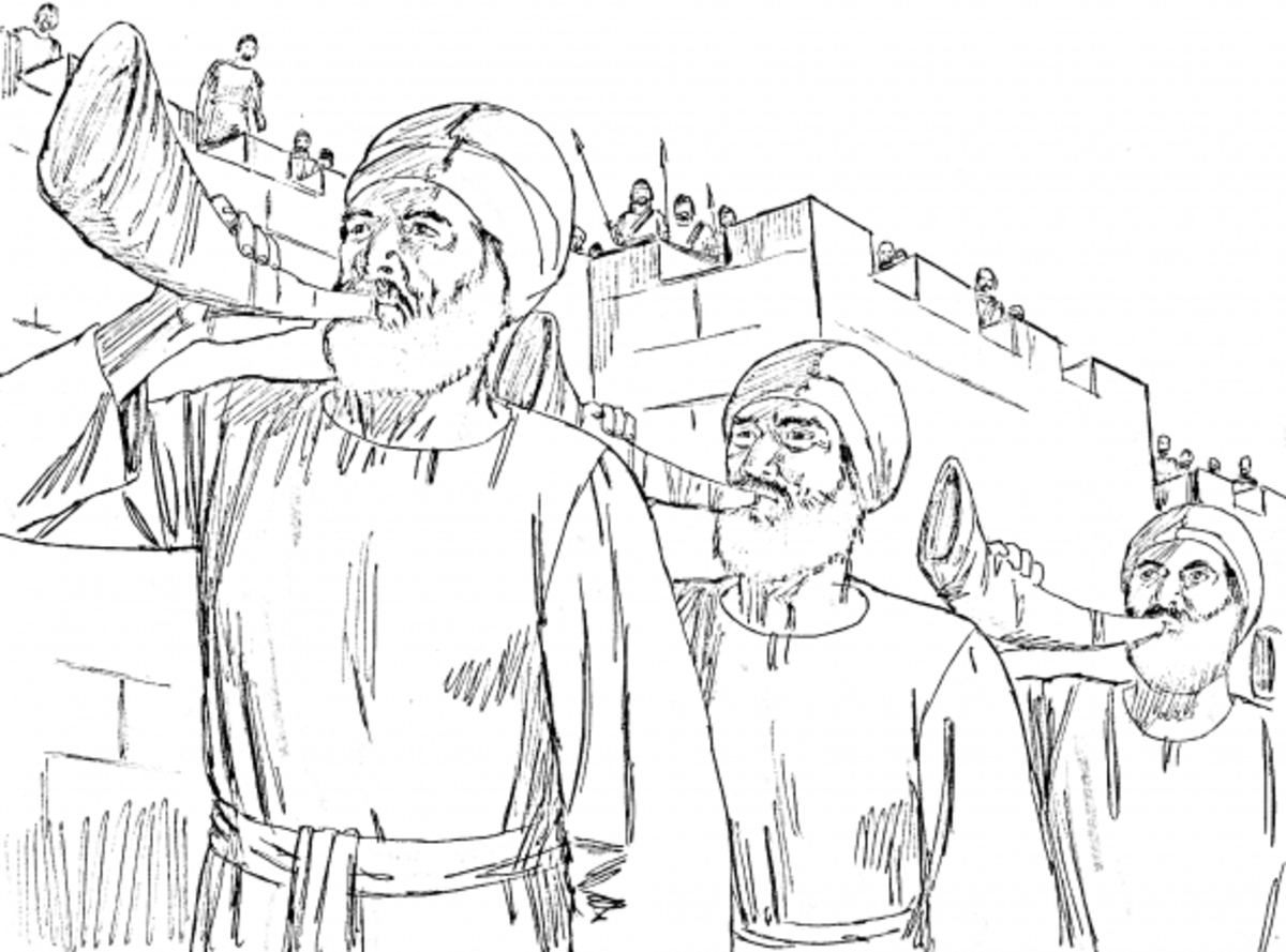 The fall of jericho coloring page for Walls of jericho coloring page