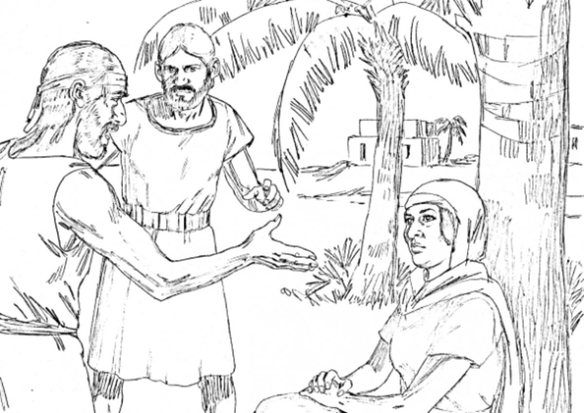 deborah bible coloring pages - photo#9