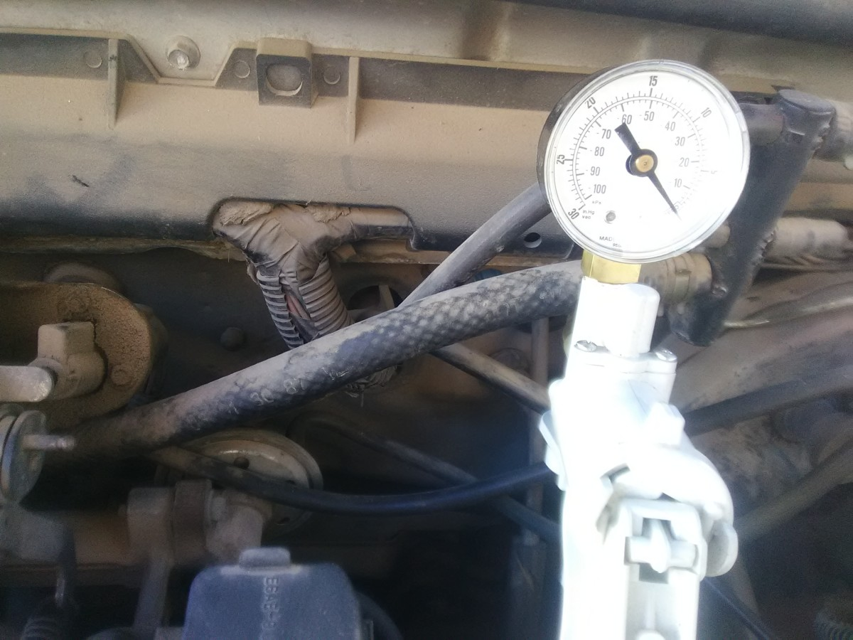 A vacuum gauge can help you diagnose vacuum leaks.
