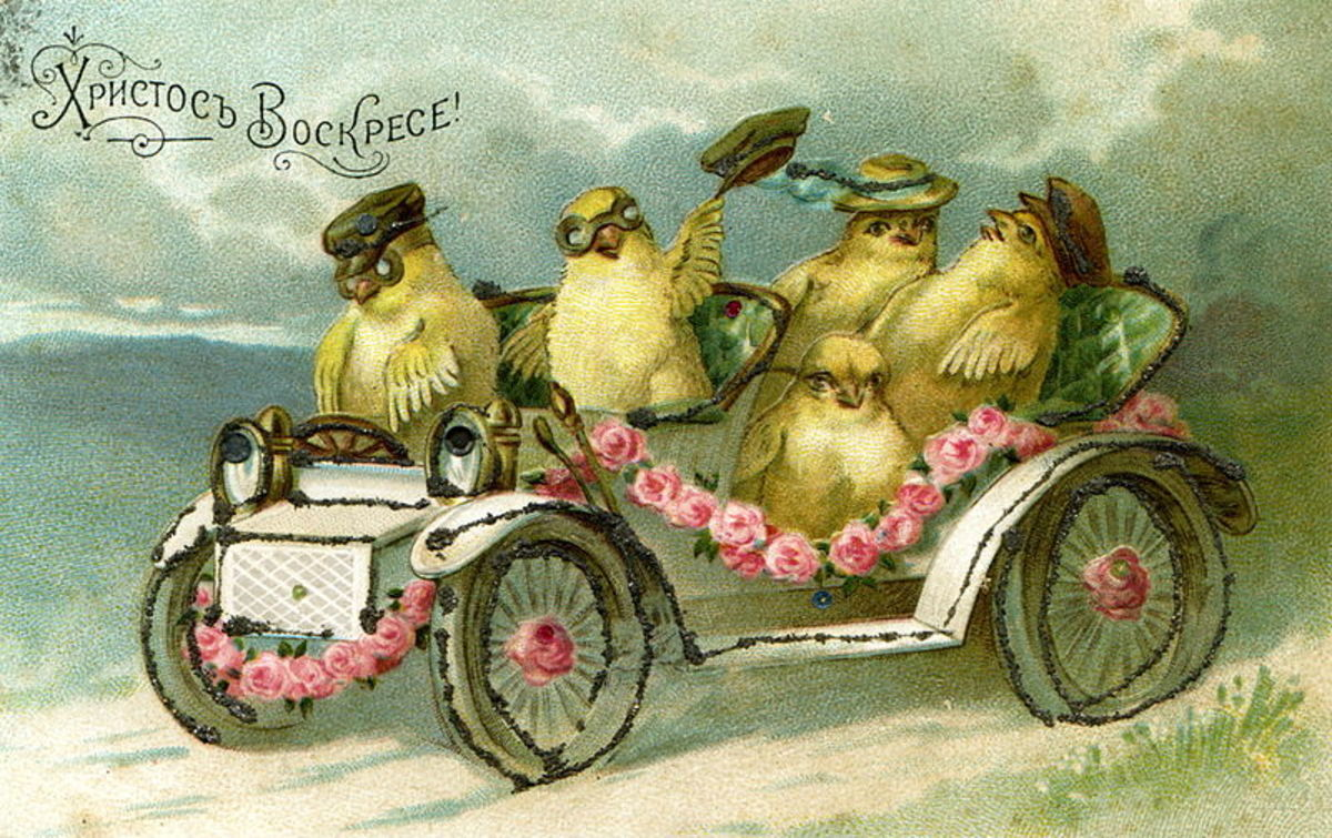 Old Fashioned Easter Chick Images for Cards