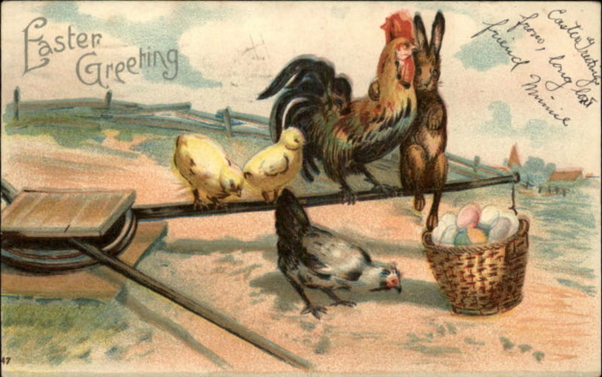 Easter greeting from 1910 Postcard.