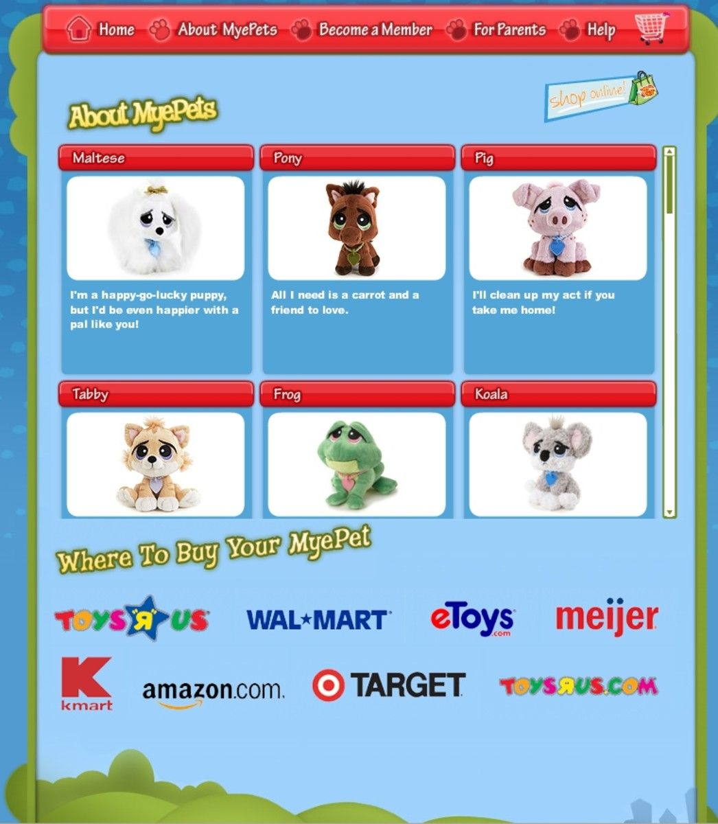 MyePets can be purchased at major retailers.