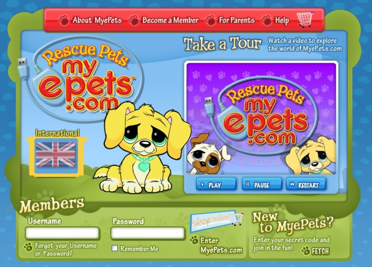 Rescue a sad virtual puppy at MyePets