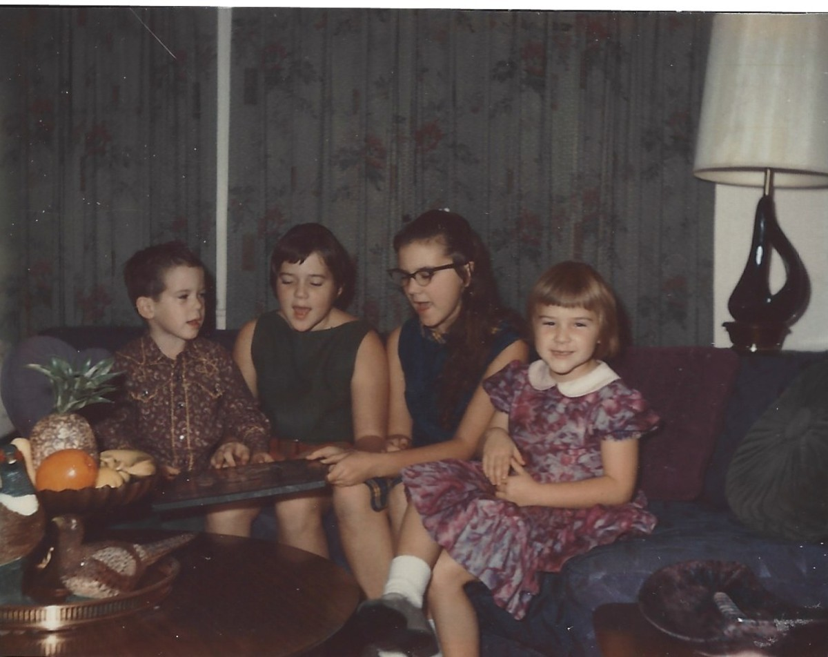Me and my siblings in 68.  I have glasses on.