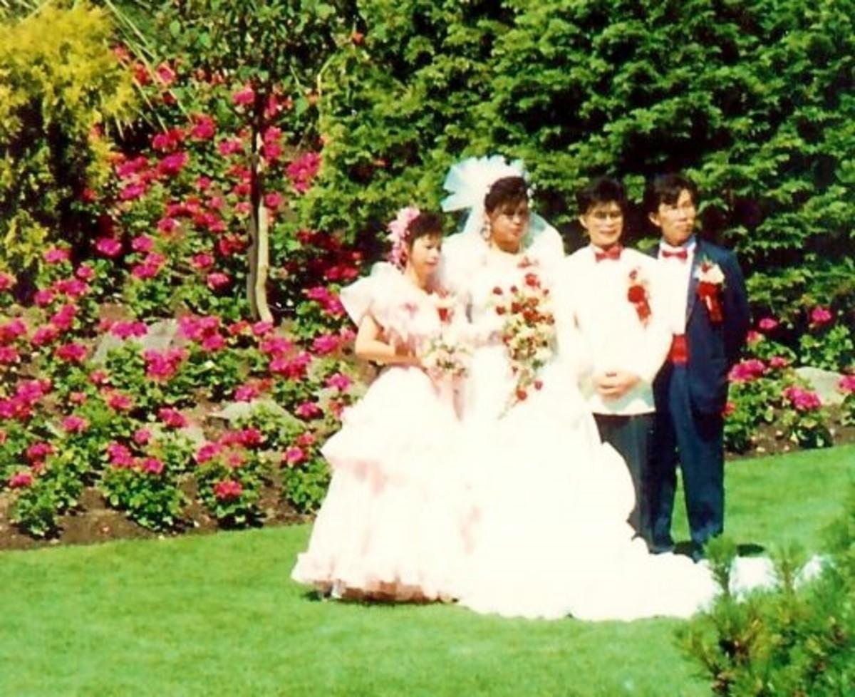 Bridal party in Queen Elizabeth Park