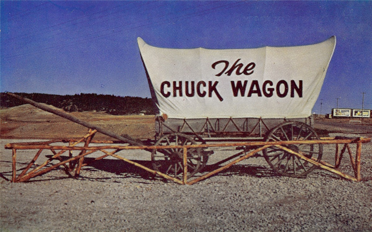 The Chuck Wagon - Vintage Postcard, Rapid City, SD