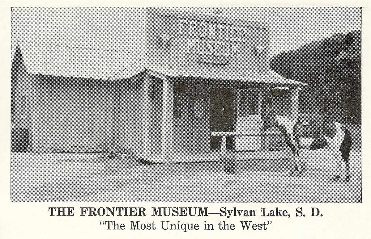 The Frontier Museum - Vintage postcard from Sylvan Lake, SD