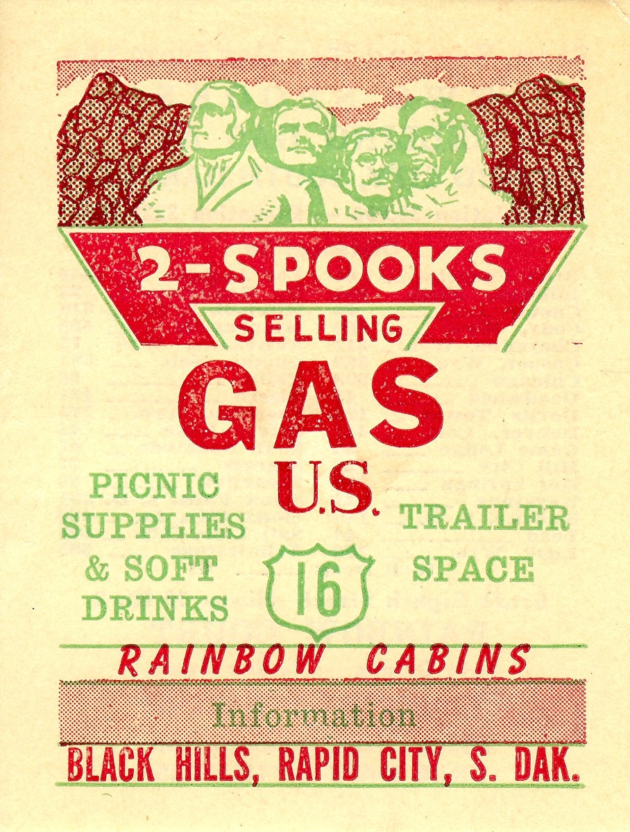 2 - Spooks selling Gas old ad, Rapid City, SD