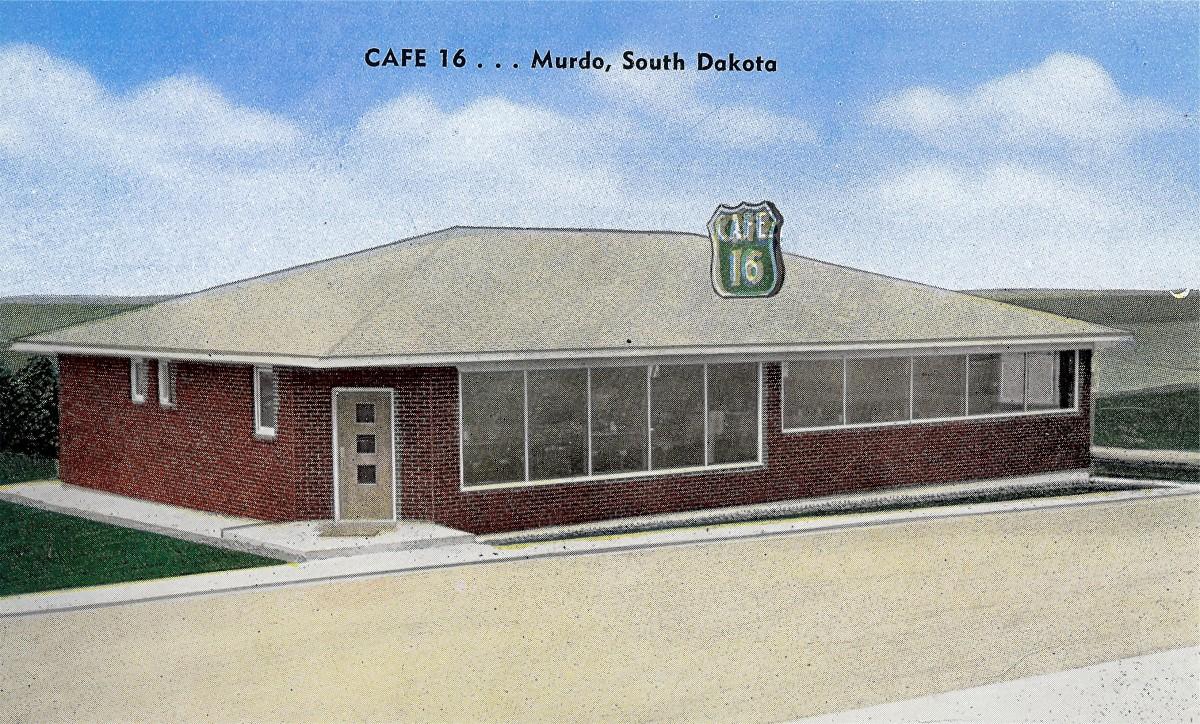 Cafe 16 - Vintage postcard from Murdo, SD