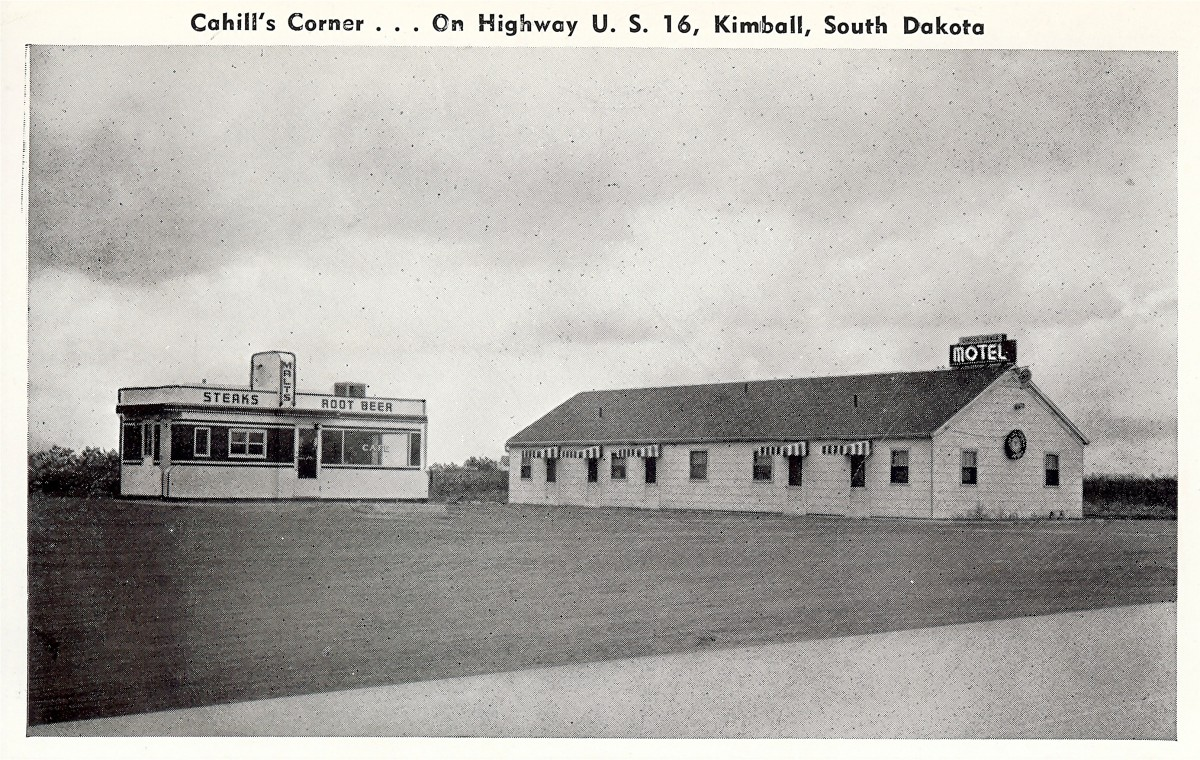 Cahill's Corner - Vintage postcard from Kimball, SD