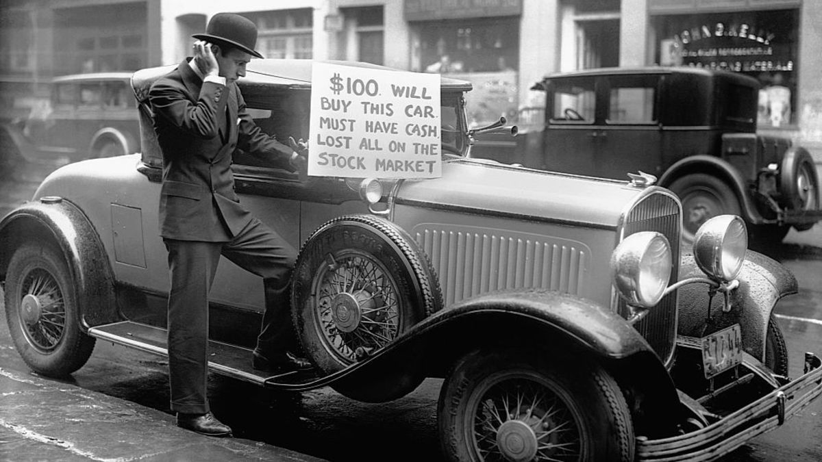 Some people lost everything they had in the crash of 1929. It is important to never put in more money that you can afford to lose, and always have an emergency fund stashed away.