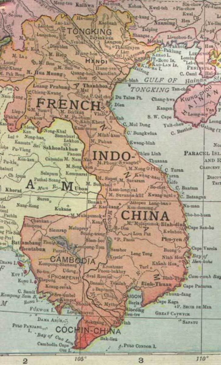 The colony of French Indo China in the late 1800s.