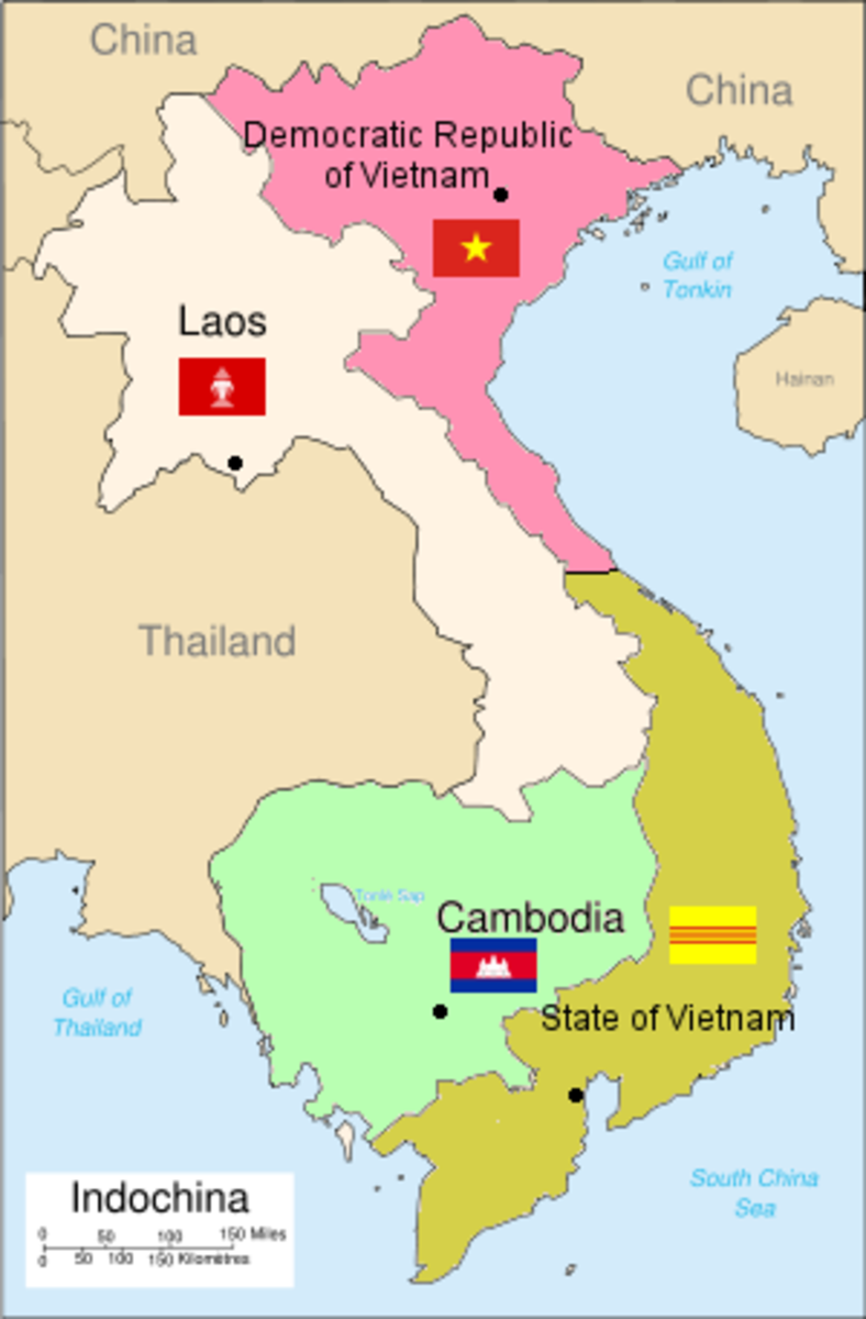 The Geneva Conference would divide Vietnam at the 17th parallel. North Vietnam would be given Ho Chi Minh's communists. South Vietnam would be given a western style government mainly supported by the United States.