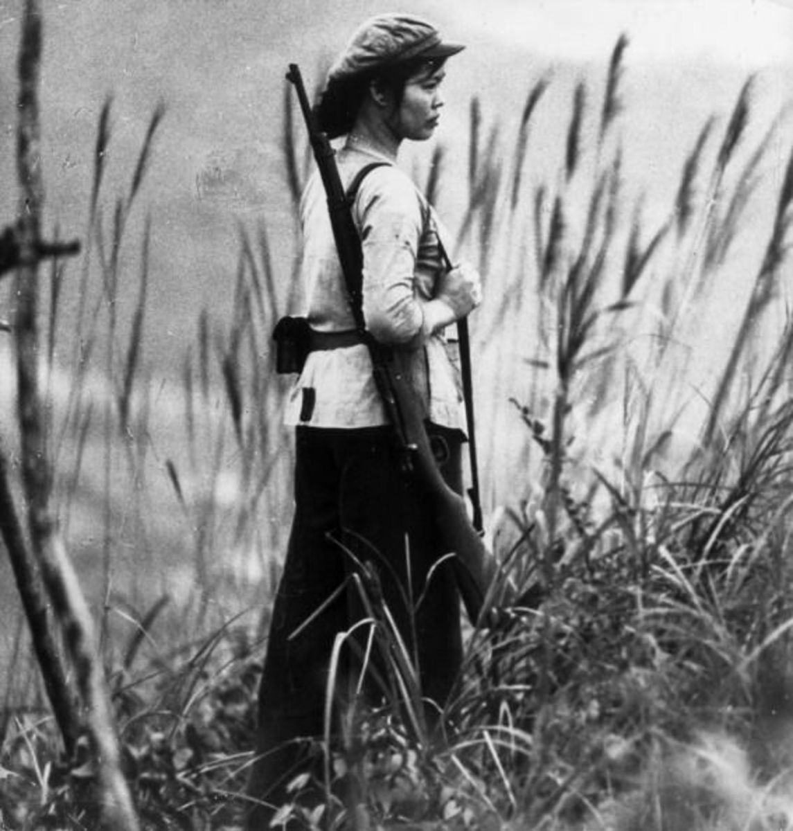 Many Vietnamese women would take up arms against the American troops in South Vietnam.
