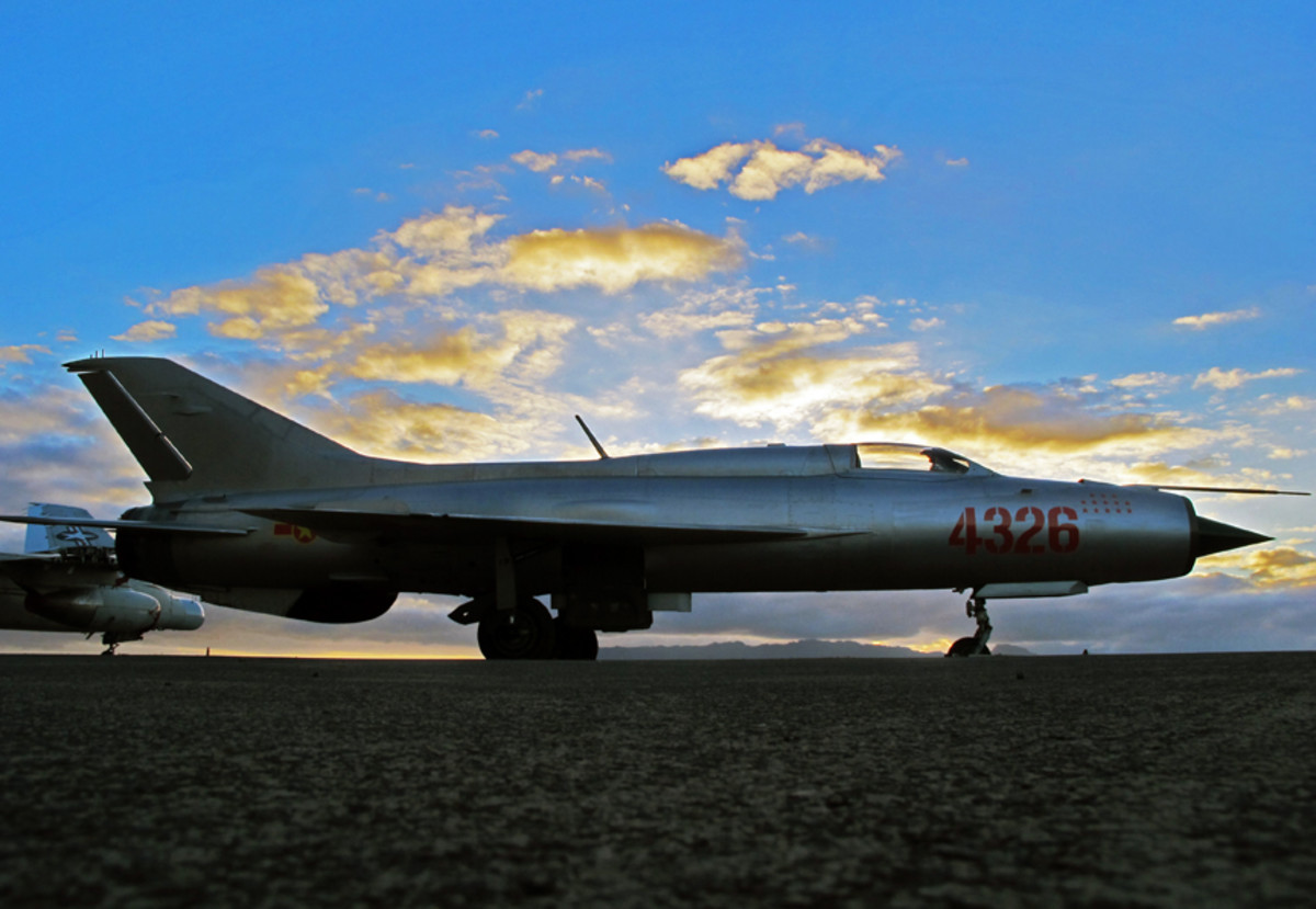 North Vietnamese Air Force MiG-21 No.4326, which shot down 13 American aircraft during the Vietnam War.