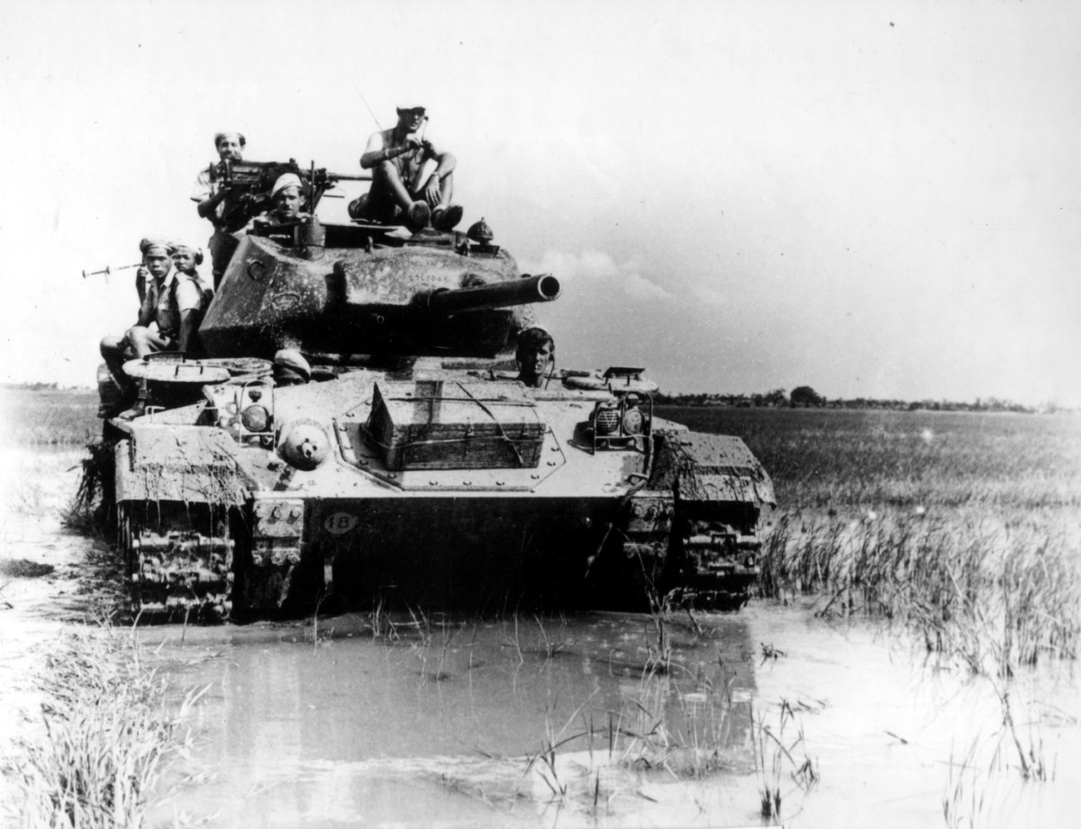 The French defenders of Dien Bien Phu had 6 American made M24 Chaffee tanks to beef up the defenses of their base.